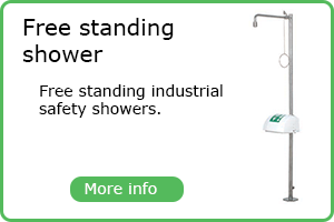 Free standing safety shower