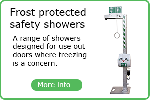 Frost protected showers