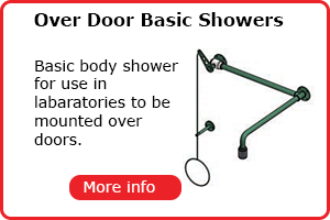 Over door mounted lab shower