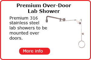 Premium over door safety showers