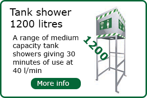 1200 Litre capacity tank shower