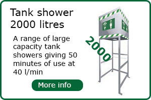 2000 litre capacity tank shower