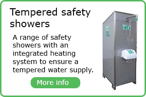 Tempered safety showers